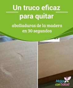 Un truco eficaz para quitar abolladuras de la madera en 30 segundos La mayoría de nosotros tenemos uno o varios muebles de madera en nuestro hogar, con los cuales decoramos y le damos un aspecto más acogedor. Recycled Furniture, Diy Furniture, Home Hacks, Dremel, Woodworking Tips, Clean House, Interior Design Living Room, Good To Know, Home Remedies