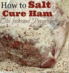 to Salt Cure Ham Old-Fashioned Preserving Tired of store bought meat? Learn how to salt cure a ham with old-fashioned preserving skills.Tired of store bought meat? Learn how to salt cure a ham with old-fashioned preserving skills. Prepper Food, Survival Food, Survival Prepping, Survival Life Hacks, Canning Recipes, Meat Recipes, Smoker Recipes, Canning Tips, Carne Madurada