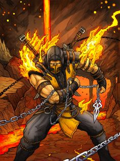 Scorpion Mortal Kombat X by Daniel-Jeffries.deviantart.com on @DeviantArt