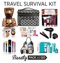 """""""Beauty on the Go: Travel Kit"""" by saifai ❤ liked on Polyvore featuring beauty, Elizabeth Arden, L'Oréal Paris, Shany, Korres, Moroccanoil, R+Co, Sephora Collection, Anuschka and Lipsy"""