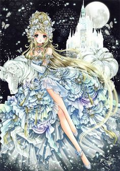 Cinderella by Shiitake ♥ Princess In Wonderland artbook (I have the mini poster <3 )