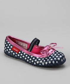 Take a look at this Navy Polka Dot Duck Flat by Cloudy With a Chance: Rain Gear on #zulily today!