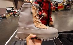 Yeezy 1050 Boots sample at Sneakercon. | @qiasomar