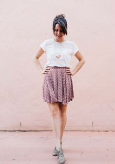 Rust Dot Culottes by Cirque du Bebe #sewing #megannielsenpatterns #love