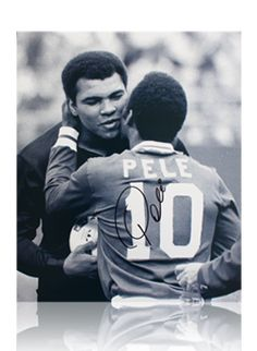 Pele & Ali two of the greatest   Can you imagine the kind of NFL football players they would be.  Brother Ali as a WR and Brother Pele as a RB.