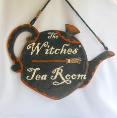For Your Witches Tea Party Hand Painted Tea Room Sign by shrinemaiden, $18.00