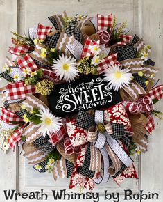 Summer Wreath Everyday Wreath Burlap Mesh Wreath Door Wreath Welcome Wreath Summer Decor Mothe Wreaths For Front Door, Door Wreaths, Christmas Wreaths, Christmas Decorations, Holiday Decor, Prim Christmas, Thanksgiving Wreaths, Diy Wreath, Wreath Burlap