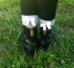 01c73b8b0bd SCHOLAR SOX (super-cute socks with bows). White BowsCute SocksKnee High ...