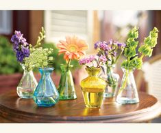 tiny pretty flower vases.