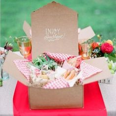 Pack your next picnic lunch in a takeout box