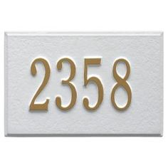 Whitehall Products Wall Mailbox Plaque in White/Gold-1426WG - The Home Depot