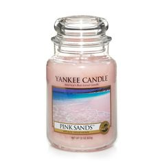 Pink Sands™ : Large Jar Candles : Yankee Candle from The Yankee Candle Company. Shop more products from The Yankee Candle Company on Wanelo. Bougie Yankee Candle, Yankee Candle Scents, Yankee Candles, Sand Candles, Best Candles, Scented Candles, Candle Jars, Vanilla Candles, Funny Candles
