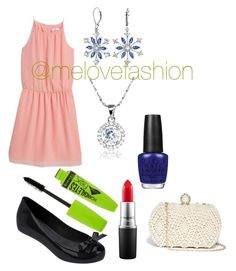 Date night by lennysbff-1 on Polyvore featuring MANGO, Melissa, GUESS, Bling Jewelry, Rimmel, MAC Cosmetics and OPI
