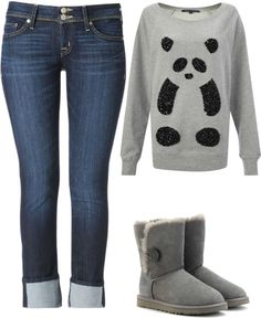 """Cozy Winter Outfit!"" by laurenlu12 ❤ liked on Polyvore"