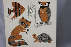vintage 60s EDUCATIONAL Science Chart ANIMALS by ScottieinaCanoe