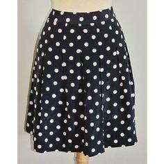 J Crew navy polka dot skirt.