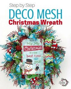 Today in the wreath shop, learn to make a deco mesh Christmas Wreath using 2 types of mesh and attaching a sign. via Southern Charm Wreaths Christmas Winter Holidays Decor. A DIY Crafts tutorial by Southern Charm Wreaths Christmas Wreaths For Front Door, Decoration Christmas, Whimsical Christmas, Holiday Wreaths, Winter Wreaths, Green Christmas, Christmas Ideas, Christmas Crafts, Spring Wreaths