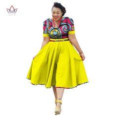 African Clothing Summer Dress For Women Dashiki Bazin Riche Vestidos African Dresses For Women, African Print Dresses, African Fashion Dresses, African Attire, African Wear, Fashion Outfits, African Outfits, African Dresses Plus Size, Fashion Ideas
