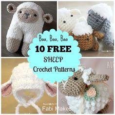 Sheep and Lamb Crochet Sheep, Crochet Round, Crochet Patterns Amigurumi, Crochet Animals, Crochet Dolls, Knitting Patterns, Free Crochet, Crochet Gifts, Crochet Yarn