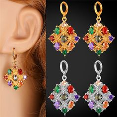 Cheap earrings 18k, Buy Quality earings fashion directly from China earrings zirconia Suppliers:                        Buy the matching items,please click following pictures:           Mix-Color Crystal E