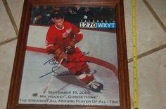 """NHL HOCKEY """"Gordie Howe"""" Signed Photo 8x10 COA Talk Radio 1270 WXYT Sep.15, 2000 #DetroitRedWings"""