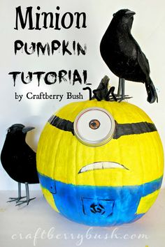 Craftberry Bush: Minion Pumpkin Tutorial