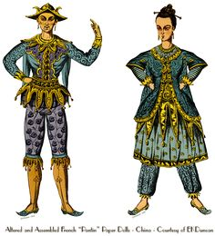 """Chinese Style png characters created from - French """"Pantin"""" Mechanical Paper Dolls from EKDuncan - My Fanciful Muse:  at http://www.ekduncan.com/2012/09/chineese-style-french-pantin-mechanical.html"""