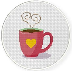 FREE for Jan 26th 2015 Only - Coffee Love Cross Stitch Pattern
