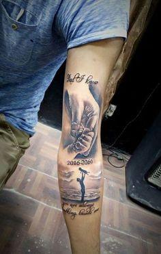 tatuajes de manos de bebe para brazo