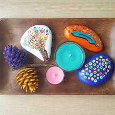 Iyi haftalar ☺ / have a nice week ☺ #peace #tranquility #serenity #stonepainting #paintedrocks #tasboyama #paintedpebbles #colorful #candle #igers #monday #instadeco #instamood #instadaily #picoftheday #dstone #beautiful_stones #decoration