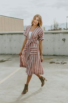 Unique Striped Dress | ROOLEE