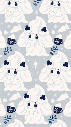 Pokemon Backgrounds, Cool Pokemon Wallpapers, Cute Pokemon Wallpaper, Cute Backgrounds, Kawaii Wallpaper, Wallpaper Iphone Cute, Cute Cartoon Wallpapers, Animes Wallpapers, Pokemon Mew
