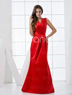 evening wear red dress