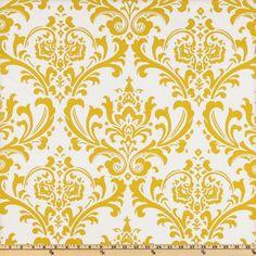 Dinette Shades, option #2 - yellow (Fabric.com) Premier Prints Traditions Slub Yellow/White $7.20/yd