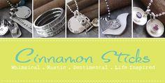 Great unique Jewellery on this site; Cinnamon Sticks