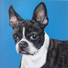 custom pet portrait painting on canvas personalized by SWISHandWAG