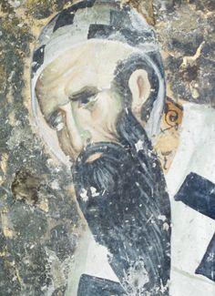 Άγιος Κύριλλος, Αρχιεπίσκοπος Αλεξάνδρειας. Byzantine Icons, Byzantine Art, Tempera, Fresco, Face Icon, Religious Icons, Orthodox Icons, Mural Painting, Alexandria