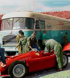 Maurice Trintignant – Ferrari 555 – Scuderia Ferrari – 1955 GP Monza Autodromo N… Ferrari Racing, Ferrari F1, F1 Racing, Car Trailer, Trailers, Bentley Mulsanne, Best Classic Cars, Mini Trucks, Vintage Race Car