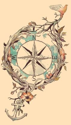 Always thought the compass was a great tattoo... love the idea of it