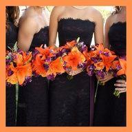 DIY Wedding Ideas Super Wedding Colors Purple Orange Bouquets Ideas Wedding Invitations Set the Tone Wedding Flower Photos, Orange Wedding Flowers, Flower Bouquet Wedding, Purple Flowers, Purple Bouquets, Flower Colors, Bright Flowers, Tangerine Wedding, Orange Weddings
