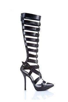Tendencia Primavera 2013 zapatos altos a la rodilla gladiador