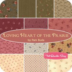 Loving Heart of the Prairie Fat Quarter Bundle Pam Buda for Marcus Brothers Fabrics #FQSGiftGuide