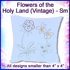 A Flowers of the Holy Land (Vintage) Pack - Sm design (X5451) from www.Emblibrary.com