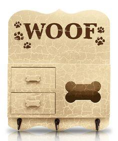 Another great find on #zulily! Beige 'Woof' Key Rack by Argento SC #zulilyfinds