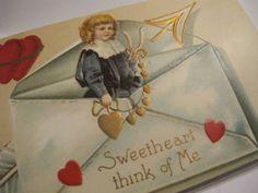 Antique Valentine Card Victorian Valentine Postcard