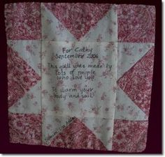 quilt label block--- From now on--- My Trademark....