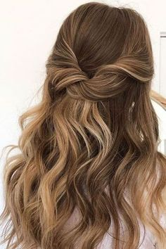 Ball Hairstyles, Easy Hairstyles For Long Hair, Homecoming Hairstyles, Bride Hairstyles, Down Hairstyles, Elegant Hairstyles, Brown Wedding Hair, Medium Hair Styles, Curly Hair Styles