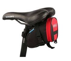 awesome Roswheel Red Bicycle Bag Saddle Back Seat Tail Pouch Basket Package with Velcro Straps For Mountain Bike Outdoor Cycling (Four Colors for you choice: Blue , Green , Red , Black) - For Sale