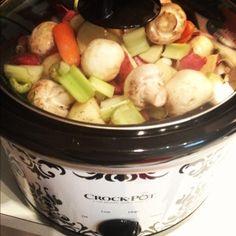 Easy crockpot beef stew with pumpkin beer.