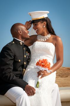 Marine wedding on the beach <3 themarriedapp.com  hearted <3